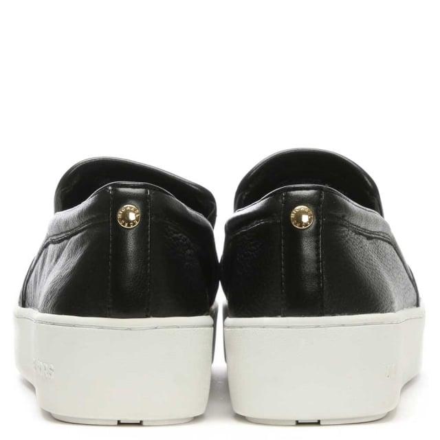 bf3e5b0912c8 Pia Star Black Leather Slip On Trainer
