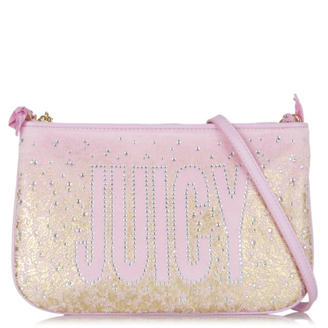 Pink JC Pretty Velour Cross-body