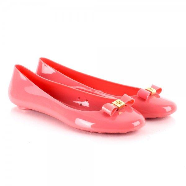 b8f35a04e957 Tory Burch Pink Jelly Bow Women s Ballet Flat