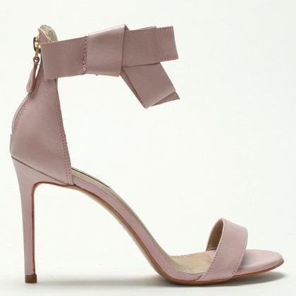 428e597bb04 Pink Leather Bow Ankle Strap Sandals. Sale. Raphaella Booz ...
