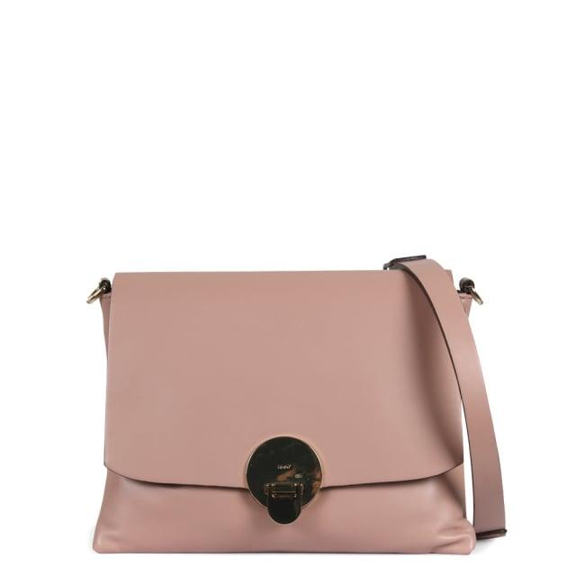 Abro Pink Leather Shoulder Bag