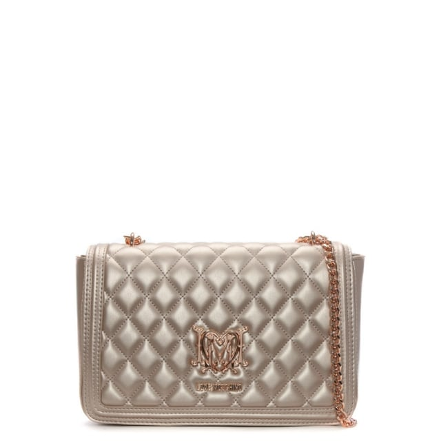 Love Moschino Pink Quilted Shoulder Bag