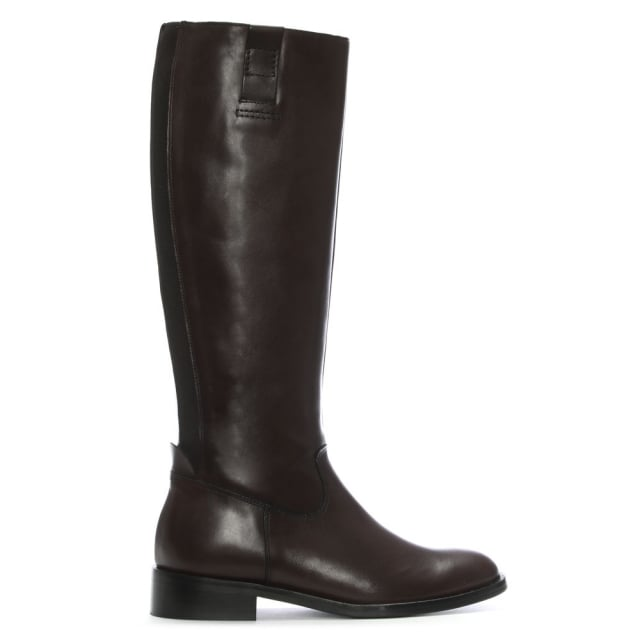 Pintano Brown Leather Elasticated Knee Boots