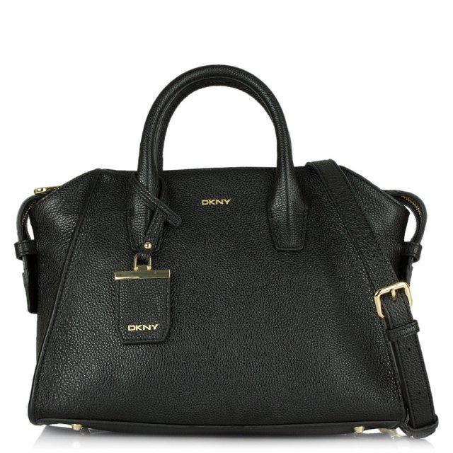 Pixie Black Leather Medium Tote Bag