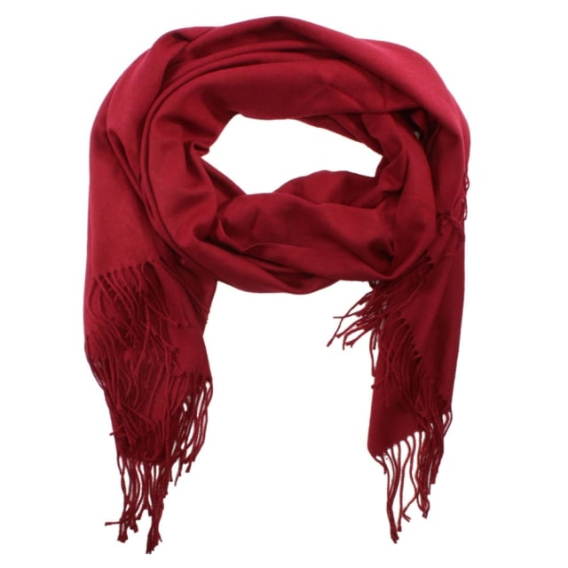 Plain Red Cashmere Scarf