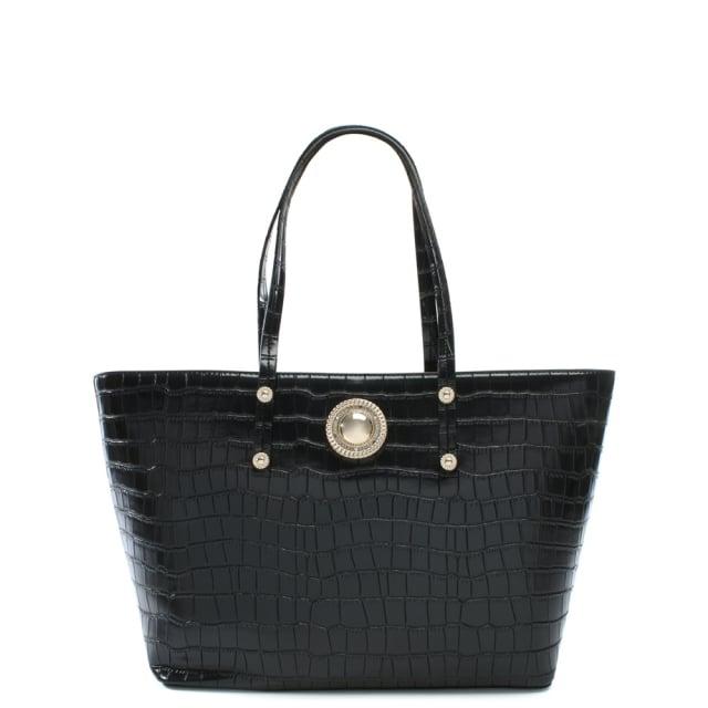53492c095b Plaque Black Moc Croc Tote Bag