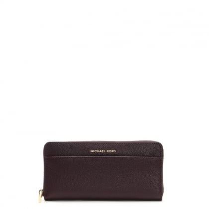 Pocket Continental Damson Pebbled Leather Wallet