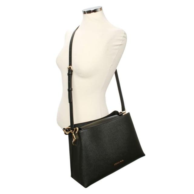 4ac658e1f826 Michael Kors Portia Large Black Saffiano Leather Shoulder Bag