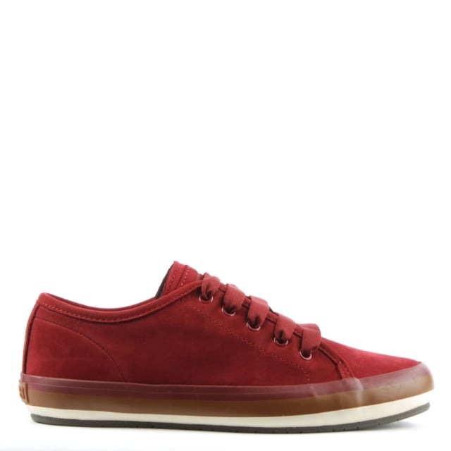 Portol Red Suede Lace Up Trainer