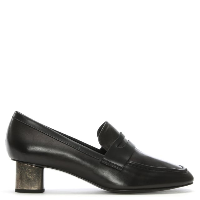 Robert Clergerie Povia Black Leather Contrast Heel Loafers