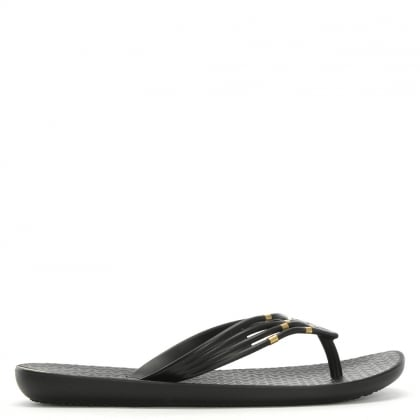 Premium Sunset Black Toe Post Flip Flops