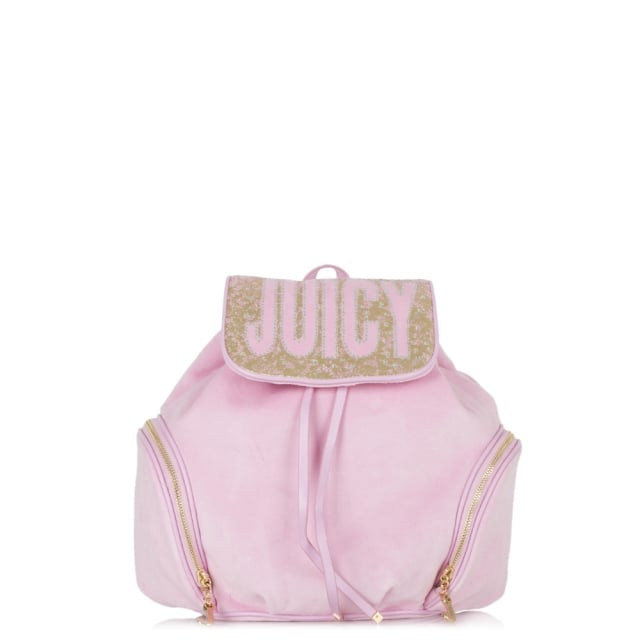 Pretty Velour Pink Backpack