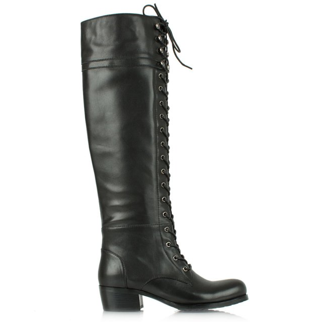 priceless-black-leather-lace-up-front-knee-high-boot