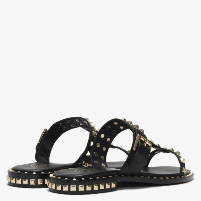 a2243cfcc0df Ash Prince Black Leather Studded Sandals