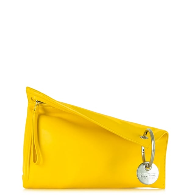 Prism Yellow Leather Large Clutch Bag