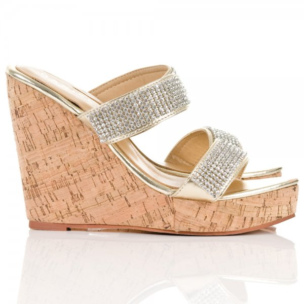 Daniel Gold Howell Womens Wedge Sandal Daniel From