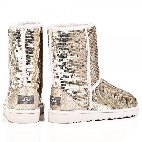 ugg australia women\u0027s classic sparkle short boots footwear