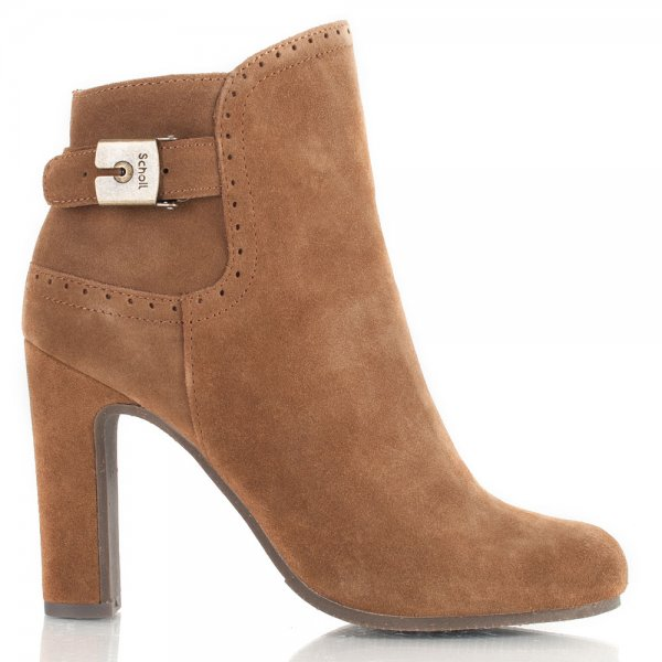 brown suede ankle boots women