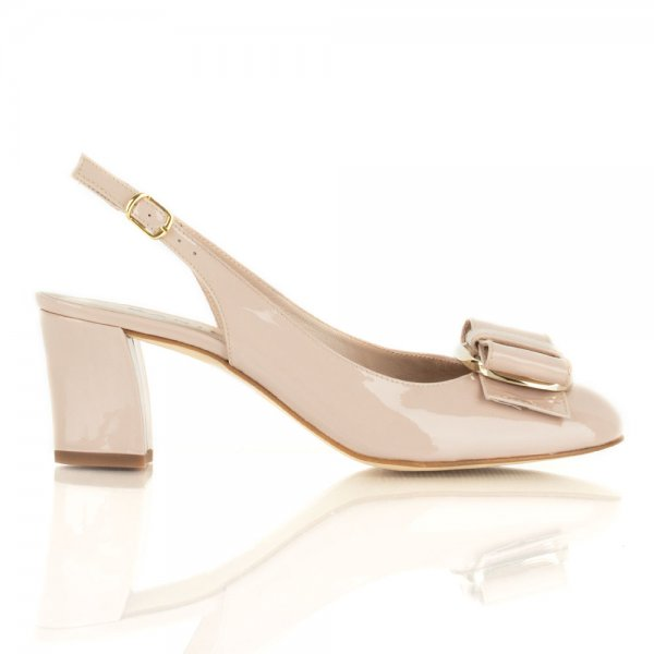 Mid Heel Nude Shoes