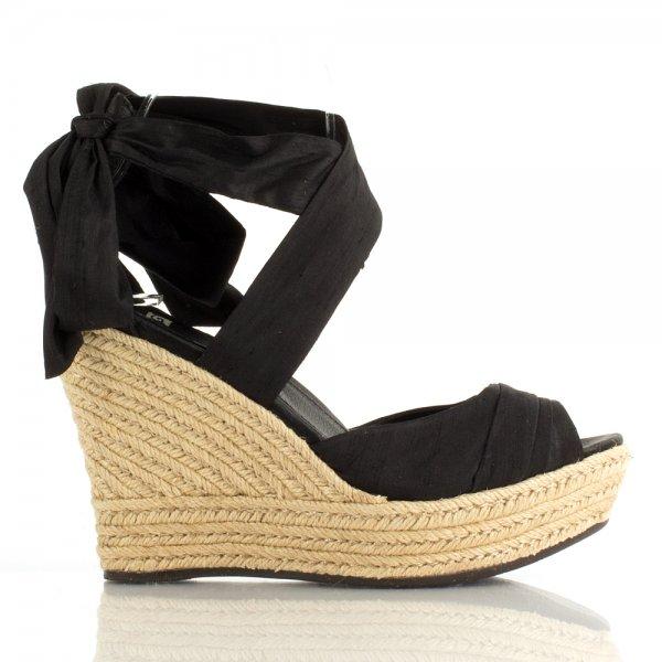 Ugg R Black Lucianna Women S Wedge Sandal