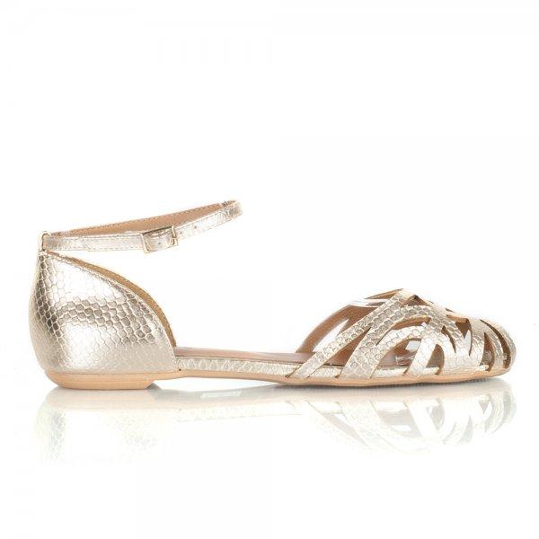 Daniel Gold Corden Women S Flat Sandal