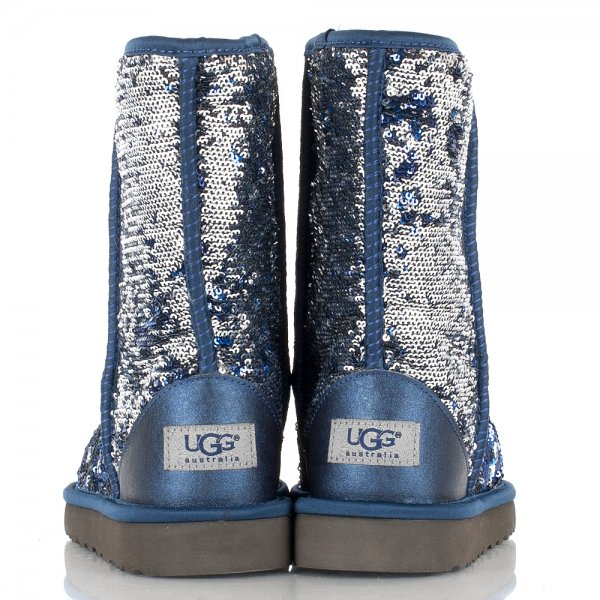 blue and silver sparkle uggs