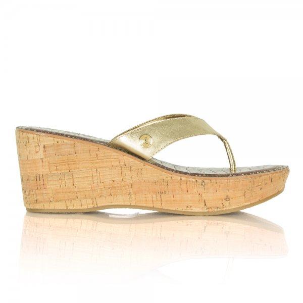 Samsam Edelman Romy Wedge Gold Toe Post Sandal