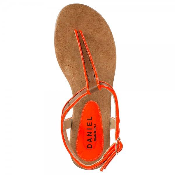 Daniel Unblush Orange Women S Flat Sandal
