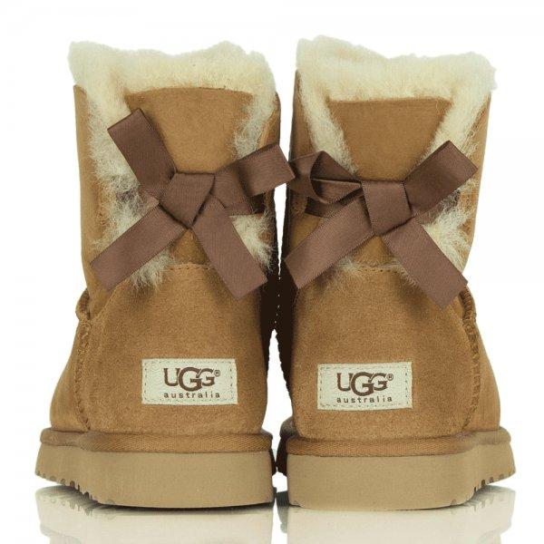 Ugg 174 Chestnut Women S Mini Bailey Bow Boot