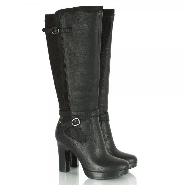 ugg 174 black linde s leather knee high boot