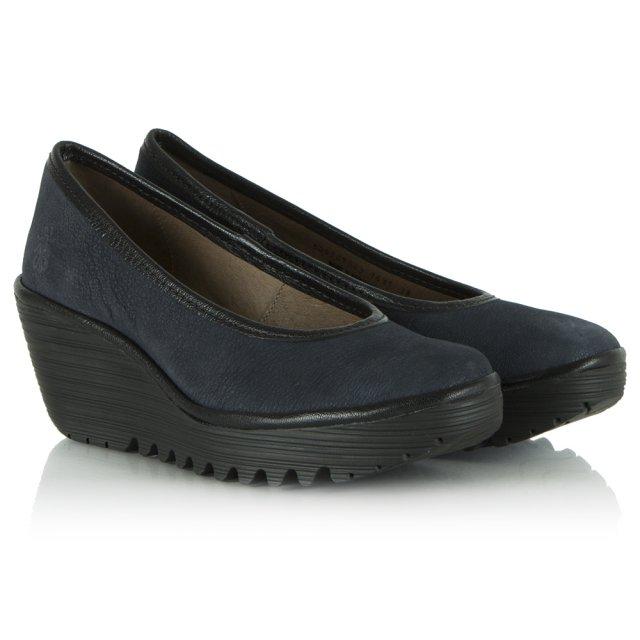 Fly London Navy Yalu Court Shoe