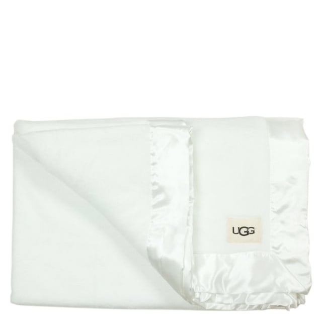 Ugg Baby White Receiving Blanket