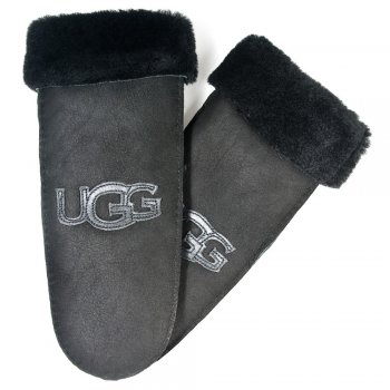 UGG Logo Mitten Black Womens Glove