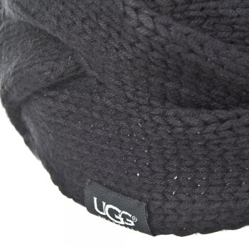 UGG Black Beanie Womens Knitted Hat