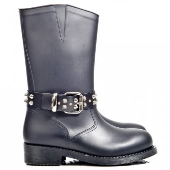 Daniel SPIKE WELLY Black Patent Womens Wellington