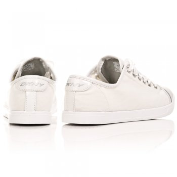DKNY White 23120784 Women's Lace Up Trainer