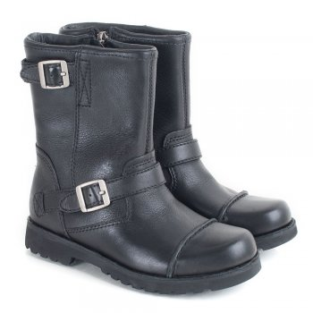 UGG Kids Cowen Black Leather Boot