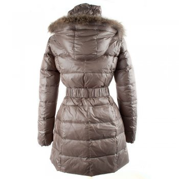 Taupe Puffa 683 Women's Long line Puffa Coat
