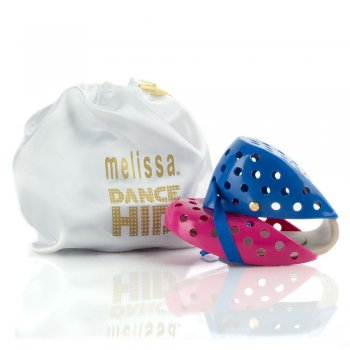 Melissa Pink Dance Hits Women's Fold Up Shoe