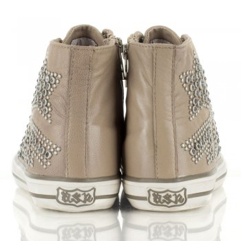 Ash Taupe Vibration Womens Stud Trainer