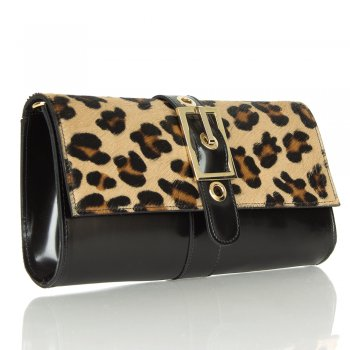 Daniel Gipsofila Leopard Buckle Women's Clutch Bag