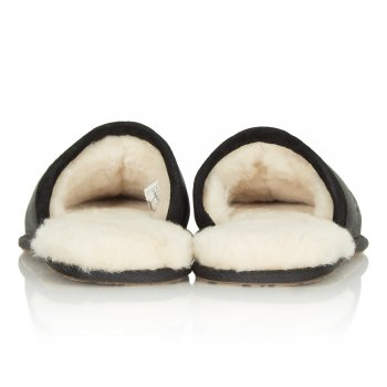 UGG Men's Scuff Black Leather Slipper