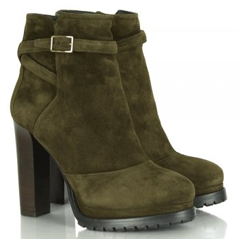 Boss by Hugo Boss Droni-C Dark Green Women's Suede Ankle Boot