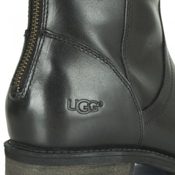 UGG Seldon Black Leather Knee High Boot