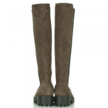 Daniel Grey Suede Cleated Women's Knee High Boot