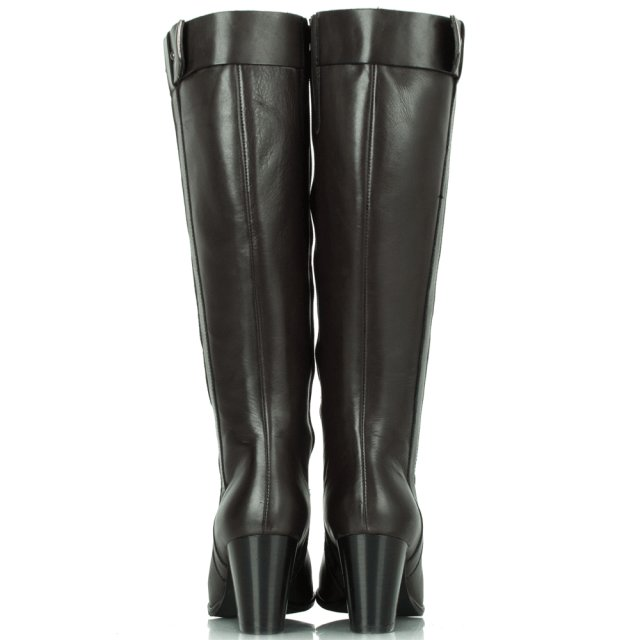 Lamica Grey Leather Acimal 7 Knee Boot