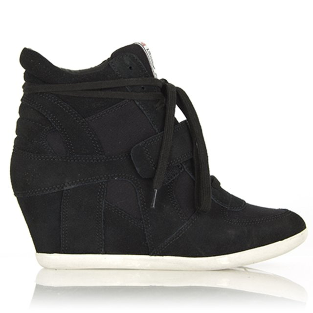 Ash Black Bowie Women's Wedge High Top Trainer
