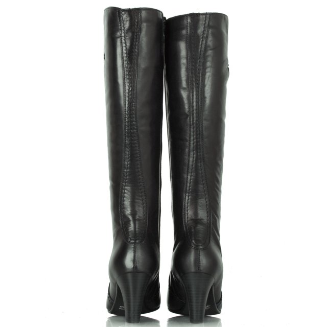 Lamica Navy Acimal 60 Leather Knee Boots