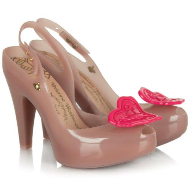 vivienne westwood pink vw ultragirl heel sling back shoe