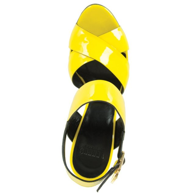Versus Versace Yellow Patent Leather Develop Stiletto Sandal